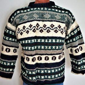 Other - 70s Alpaca Ecuadorian Wool Chunky Hand Knit XXL